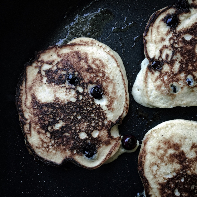 LCHF blueberry pancakes